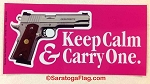 Sticker: Keep Calm & Carry One (Pink)/ 3